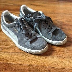 Grey suede Puma sneakers